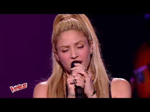 Shakira - Comme Moi Live The Voice France( Feat. Black M)
