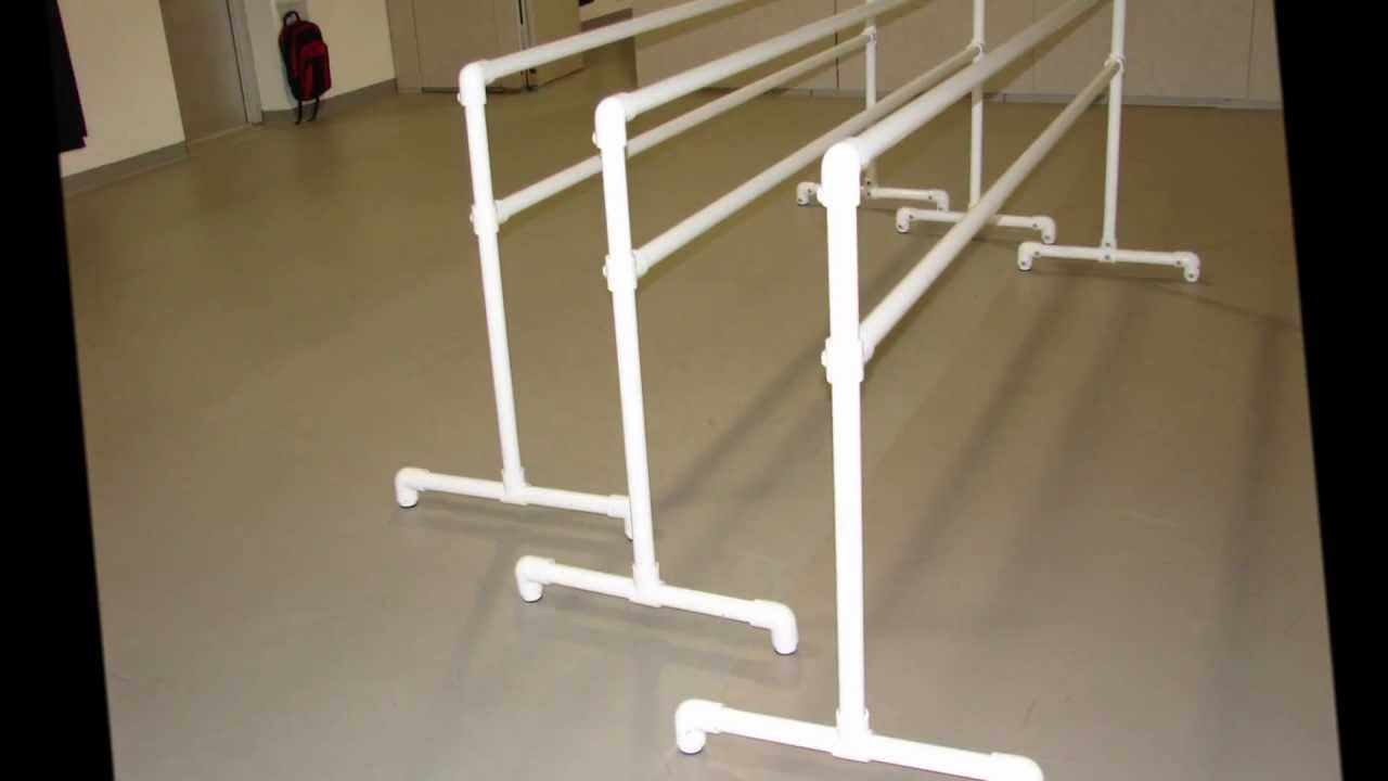 PORTABLE BALLET BARRE BALLET WORKOUT EXERCISE BAR BOSS BALLET BARRE 1-888-301-6403 - YouTube : pvc pipe ballet barre - www.happyfamilyinstitute.com