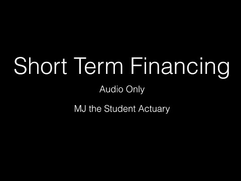 Short Term Finance CT2.2 Actuarial Science