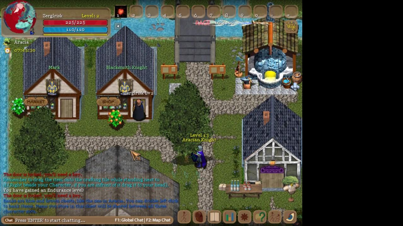 Orake 2D MMORPG Game Play