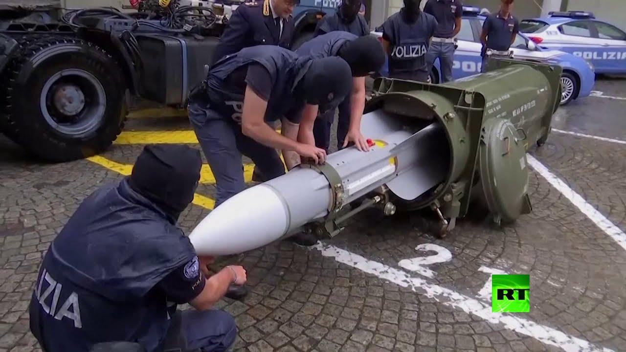 روسيا اليوم:الشرطة الإيطالية تعثر على صاروخ قطري أثناء اقتحامها لمخزن أسلحة