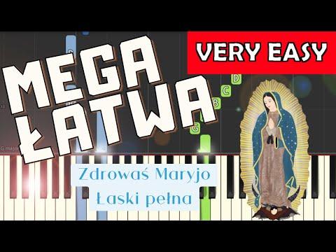 🎹 Zdrowaś Maryjo, łaski pełna (modlitwa) - Piano Tutorial (MEGA ŁATWA wersja) 🎹