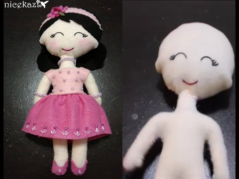 image relating to Free Printable Felt Doll Patterns named How in the direction of create Felt Doll portion 1