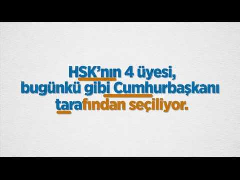 HSYK yeniden düzenleniyor, adı Hakimler ve Savcılar Kurulu (HSK) oluyor #TabiikiEVET
