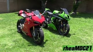 DUCATI Panigale or Kawasaki Ninja Sound? Inline Four or Twin Engine?