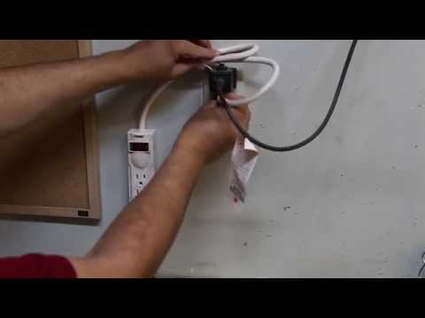 Quick Tip: How to attach a power-strip / surge-protector to a wall (drywall)