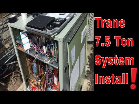Trane / American Standard 7.5 Ton Heat Pump & Air Handler Installation