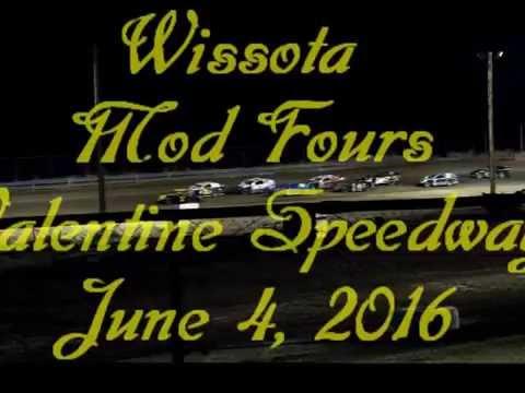 Wissota Mod Fours @ Valentine Speedway, Glenrock Wy. June 4, 2016