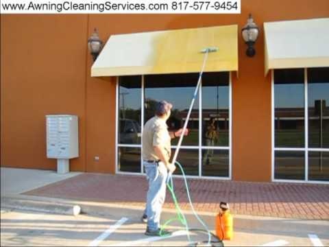 Awning Cleaning In Dallas Fort Worth TX Removing Mold Mildew Environmental Dirt And Bird Droppings