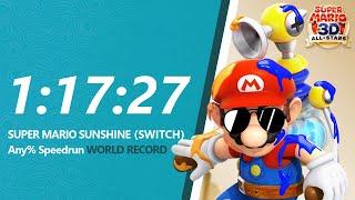 [WR] Super Mario Sunshine HD Any% Speedrun in 1:17:27