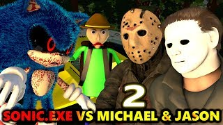 SONIC.EXE vs MICHAEL MYERS & JASON Ft. BALDI HALLOWEEN CHALLENGE (official) Minecraft Animation