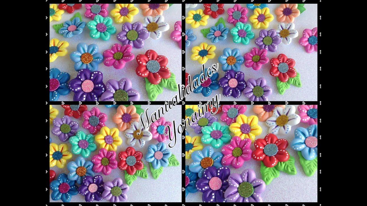 Flores de foamy o goma eva con termoformado foam flowers youtube - Flores sencillas de goma eva ...