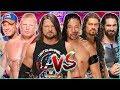 John Cena & AJ Styles & Brock Lesnar vs. Roman Reigns & Seth Rollins & Shinsuke Nakamura