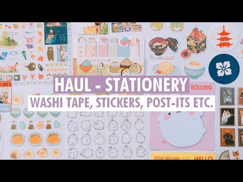 Stationery Haul | Washi Tapes, Stickers, Memo Pads and more!