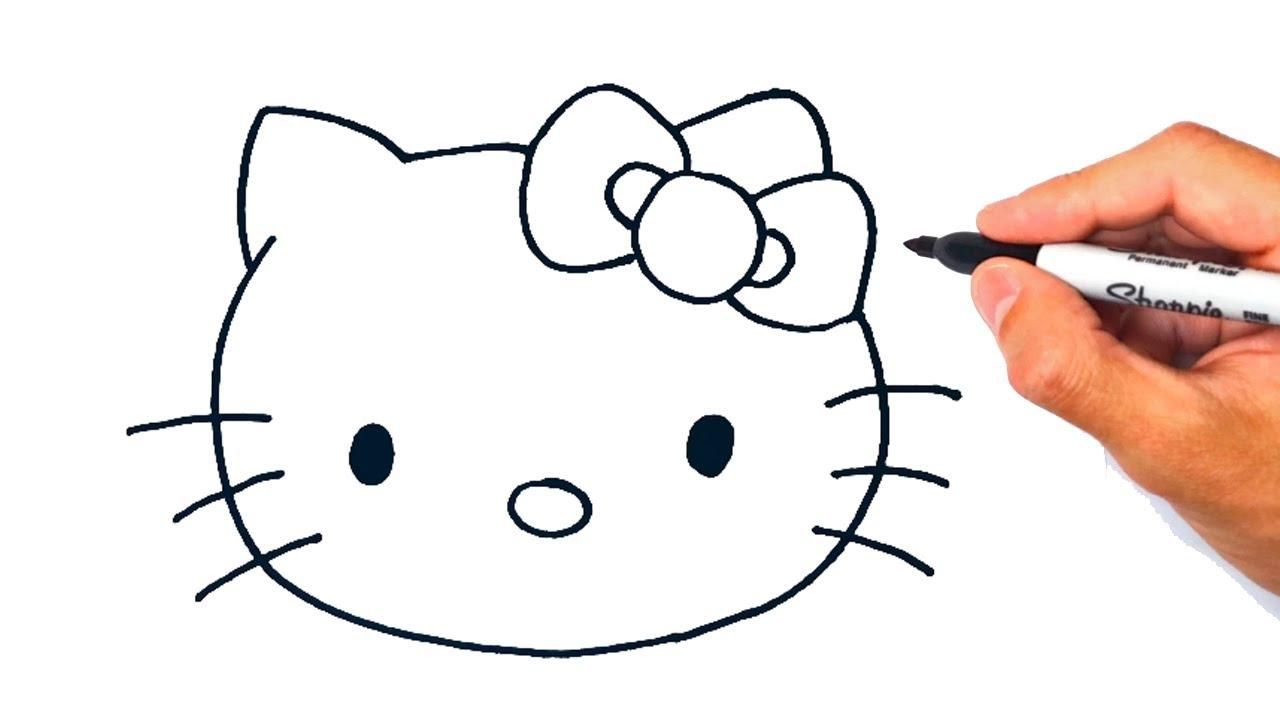Como dibujar a Hello Kitty   Dibujo de la Gatita Hello Kitty