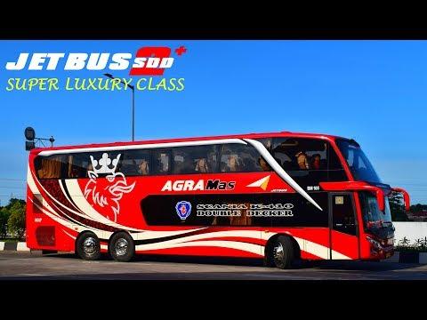 Super Luxury Bus   Naik Agra Mas Double Decker Scania K410 Jakarta - Jepara