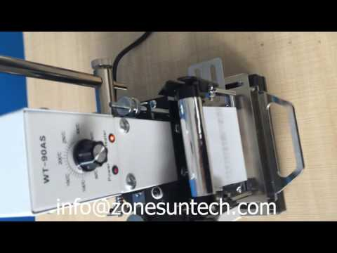 ZONESUN Hot Stamping Machine For PVC Card Member Club Hot Foil Stamping Bronzing Machine