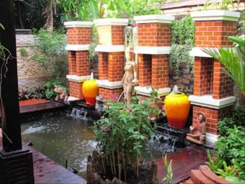การจัดสวนในบ้านขนาดเล็ก รูปภาพการจัดสวนหน้าบ้าน