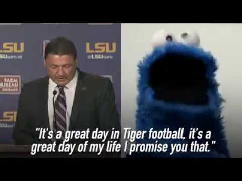 Lsu Cookie Monstercoach Ed Orgeron Youtube
