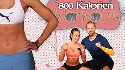 60 Min Workout fr Zuhause ohne Gerte - 800 Kalorien verbrennen - Mit Aufwrmen