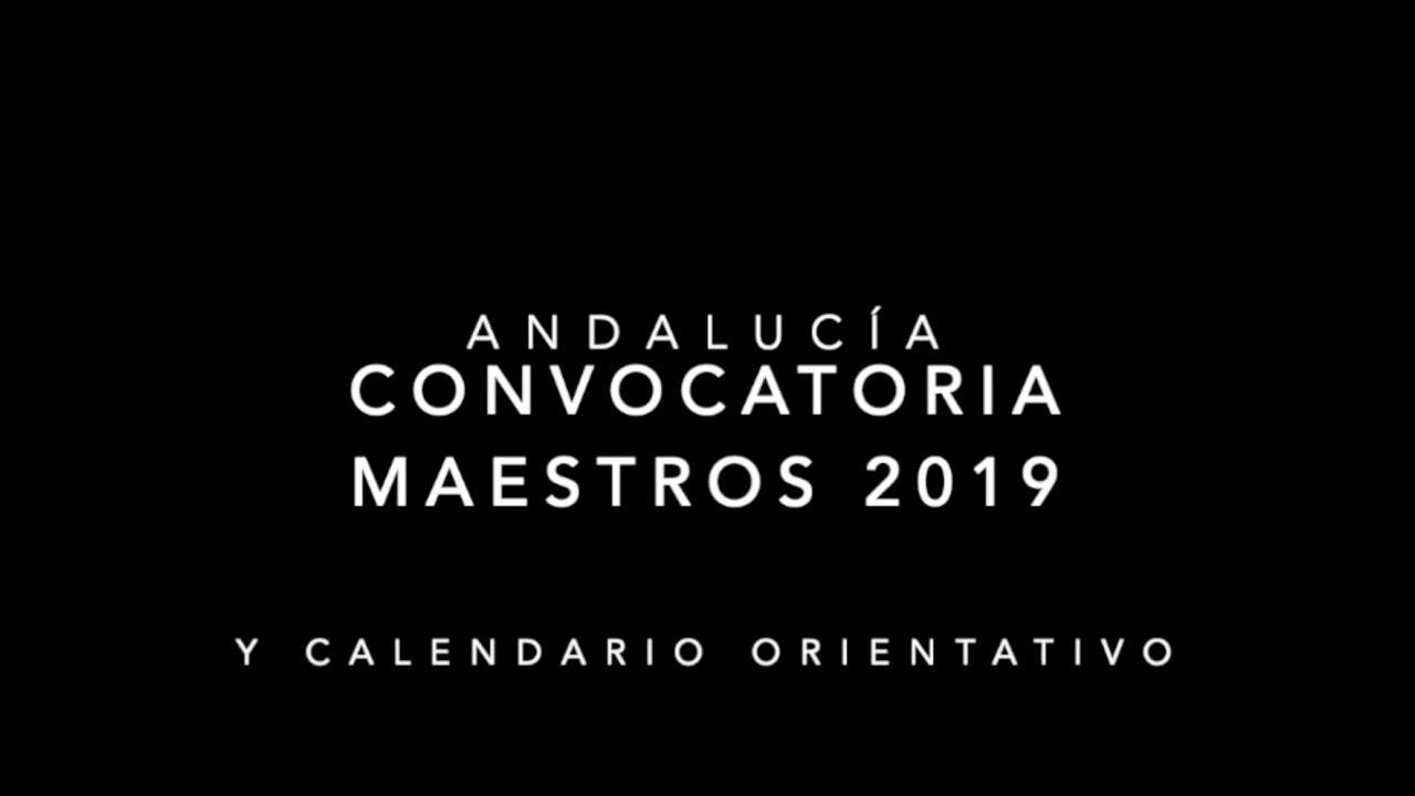 Calendario Oposiciones 2019 Andalucia.Convocatoria Oposiciones Maestros 25 Marzo 2019 Andalucia Y Calendario Orientativo