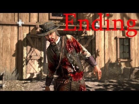 Red Dead Redemption ENDING (John Marston's death HD-Red Dead Ending!)