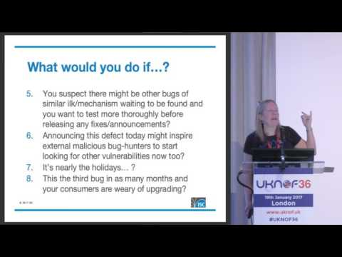 UKNOF36 - Adventures in Software Security Vulnerability Management