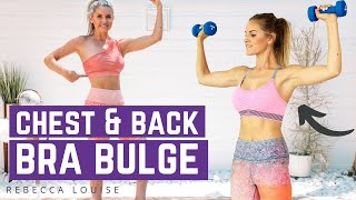 How To Lose Back Fat & Bra Bulge - CHEST & BACK Workout | Rebecca Louise