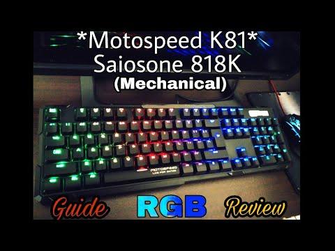 Saiosone 818K RGB Mechanical Keyboard (Motospeed K81) Review & Guide