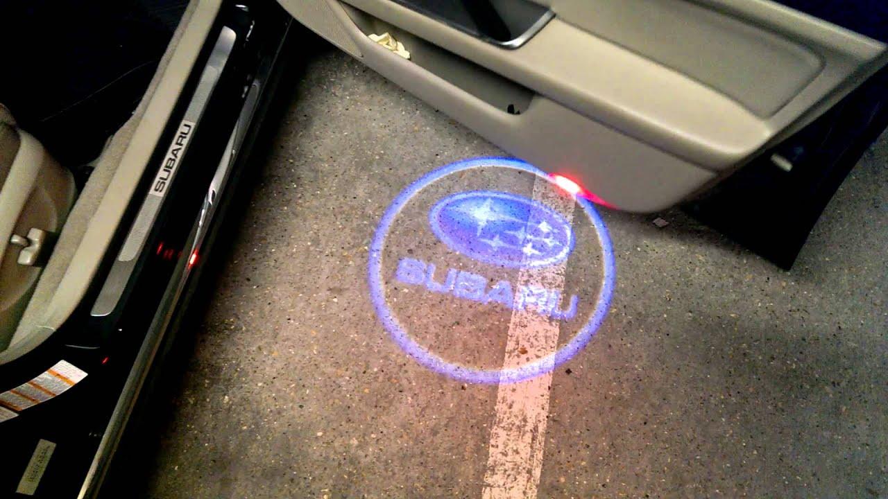 Subaru logo car door projector - YouTube