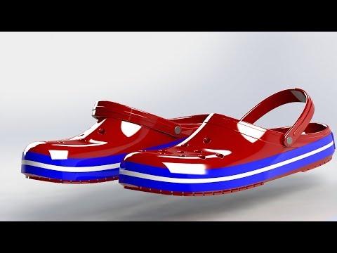 Solidworks 2016 - Crocs shoe