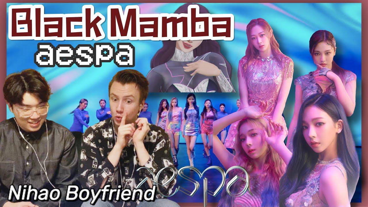 aespa 에스파 'Black Mamba' MV REACTION | Nihao Boyfriend