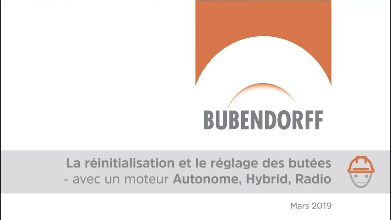 Reinitialisation Et Reglage Des Butees Avec Moteur Bubendorff