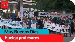 Colegio Salesiano: Profesores en huelga legal protestan en Av. Macul   Muy buenos días