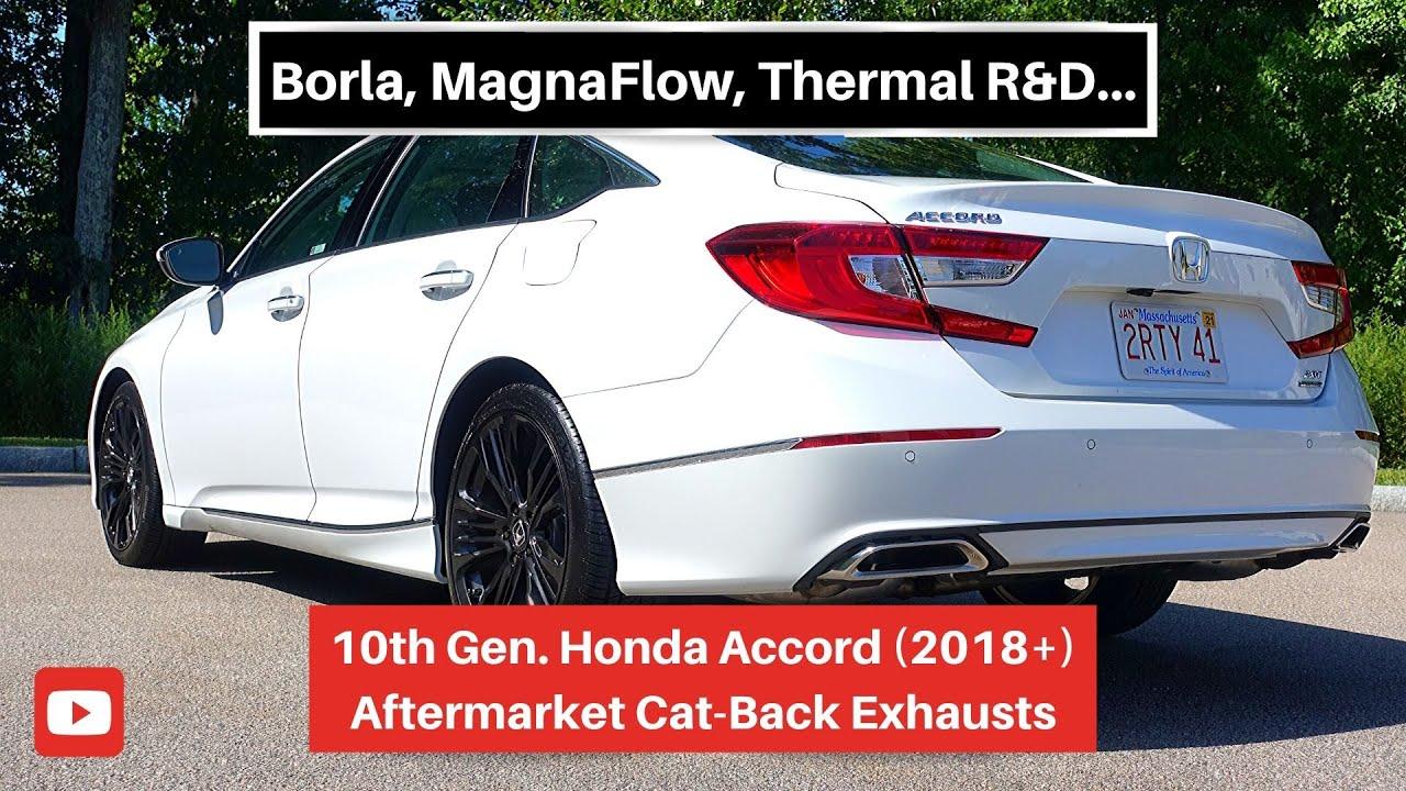 10th gen honda accord aftermarket exhaust options
