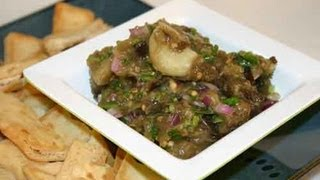 Roasted Eggplant and Garlic Dip Recipe