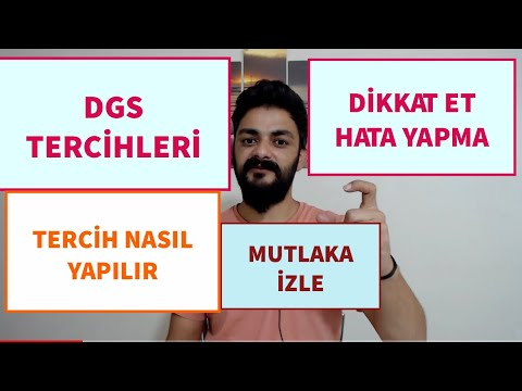 DGS TERCİHLERİ TÜM AYRINTILARIYLA #DGS #2020DGS #DGSTERCİHLER