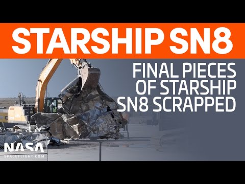 SpaceX Boca Chica: Final Sections of Starship SN8 Scrapped - New Forward Domes Ready to be Sleeved