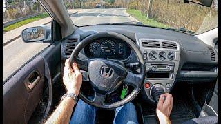 2003 Honda Civic VII (1.4 16V 90 HP) | POV Test Drive #764 Joe Black