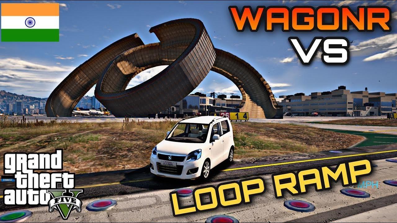 GTA 5 WAGONR VS LOOP RAMP   #Shorts   nuclear vishu