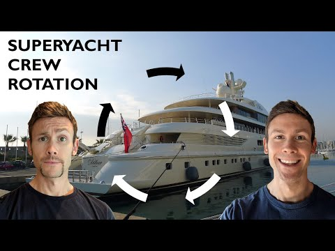 Super Yacht Jobs With ROTATION | Do Yacht Crew Get Paid Even When They're Not On Board The Yacht?