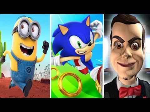 Despicable Me Minion Rush vs Sonic Dash vs Goosebumps Night of Scares Slappy |