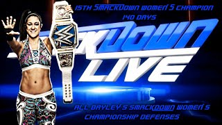 All Bayley's WWE Smackdown Women's Title Defenses (1ST REIGN)