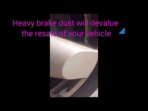Scrub Free Brake Dust Removal:  How to prevent Brake Dust corrosion and damage to your wheels