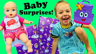 Baby Potty Training & Surprise Presents Toys in Dora The Explorers Backpack + Ava Baby Bedtime Fun