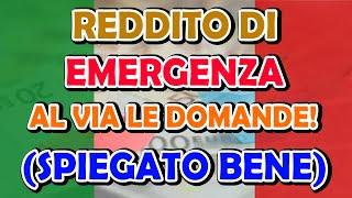 la DOMANDA per il Reddito di EMERGENZA (#REM - spiegato bene)