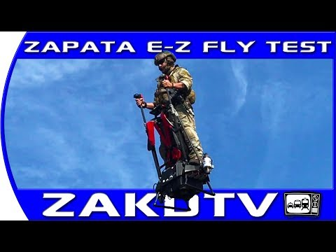 Zapata Ezfly jet powered PERSONAL FLIGHT. EZFLY hoverboard like a Segway but better