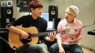 [РУСС.САБ] Henry - 1-4-3 (I Love You feat. Chanyeol) Acoustic ver.