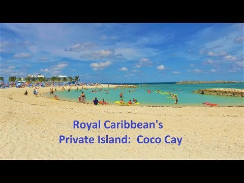 DJI Osmo Walking Tour of Royal Caribbean's Coco Cay (Little Stirrup Cay) 4k