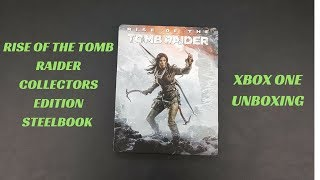 Rise of the Tomb Raider Xbox One SteelBook Unboxing: Tomb Raider Xbox One